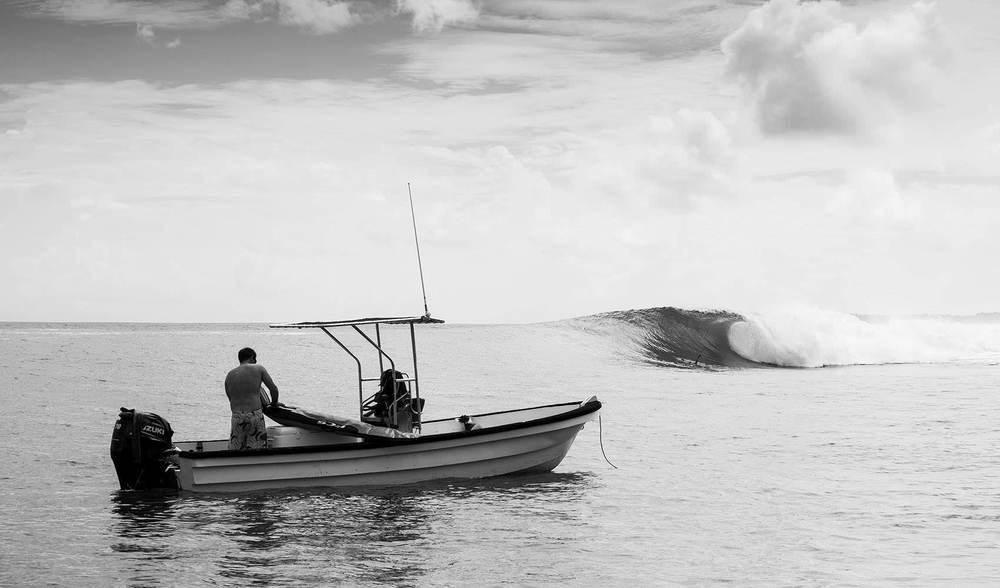 Perfect empty surf at telo island lodge in indonesia