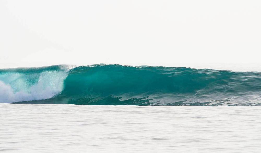 Glassy surf in indonesia