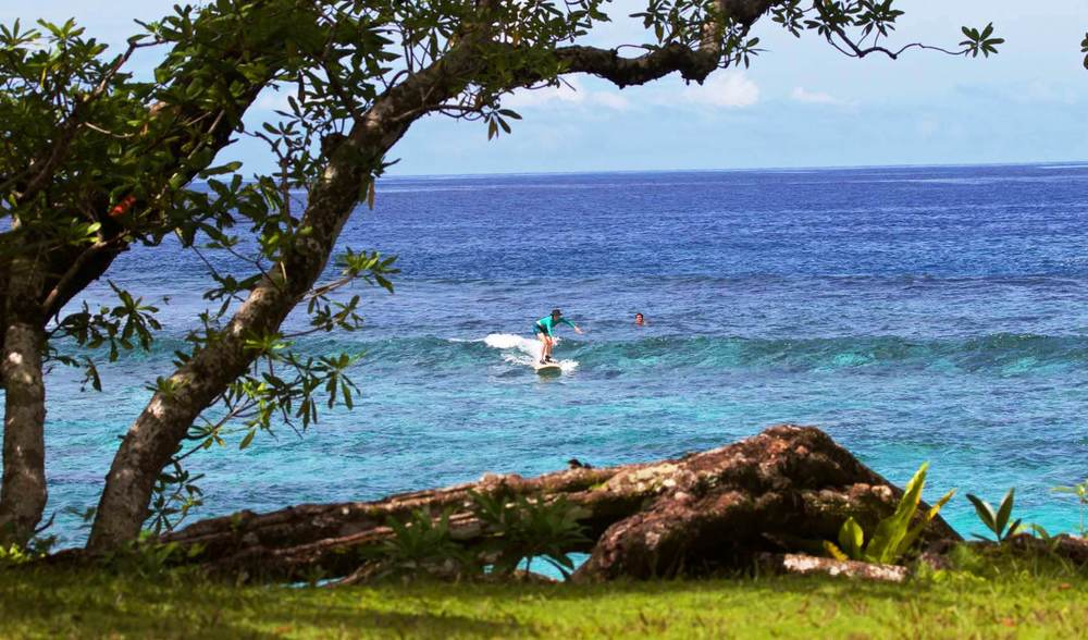Learn to surf at aganoa lodge samoa luxury surf camp