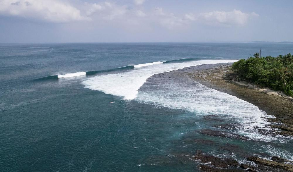 a birds-eye view of the amazing surf to be found in west sumatra