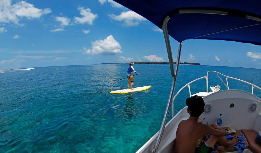 Family surf vacation stand up paddle board long board surf