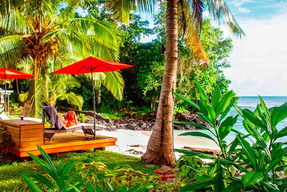 Aganoa Lodge Accommodations ocean front serenity