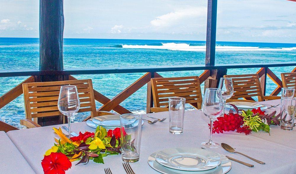 Aganoa Lodge Oceanfront Dining Samoa