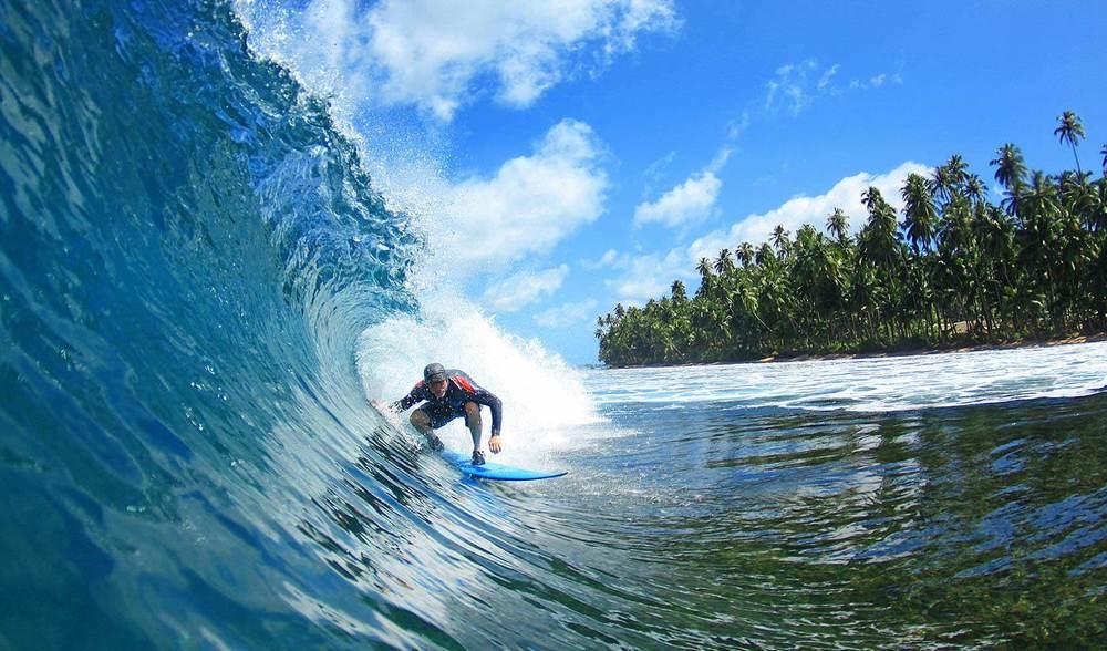 Pinnacles on Telo Surf Indonesia Older Guy Barrel