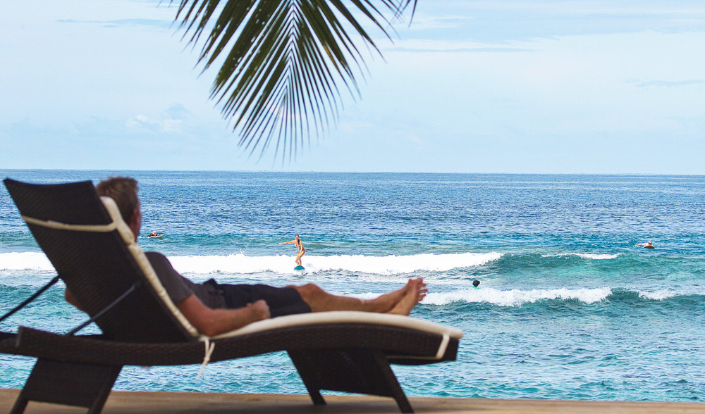 Family surf vacation samoa