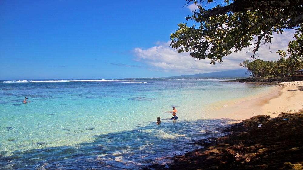 Remote private beaches on Samoa's Savai'i