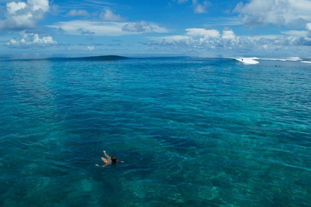 Tropical surfing destination indonesia
