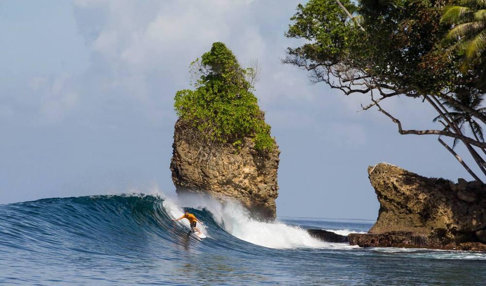 Pinnacles on Telo Surf Trip Indonesia