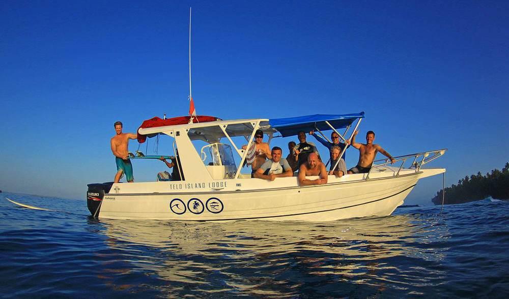 Telo island indonesia luxury surf trip powerboat transfers