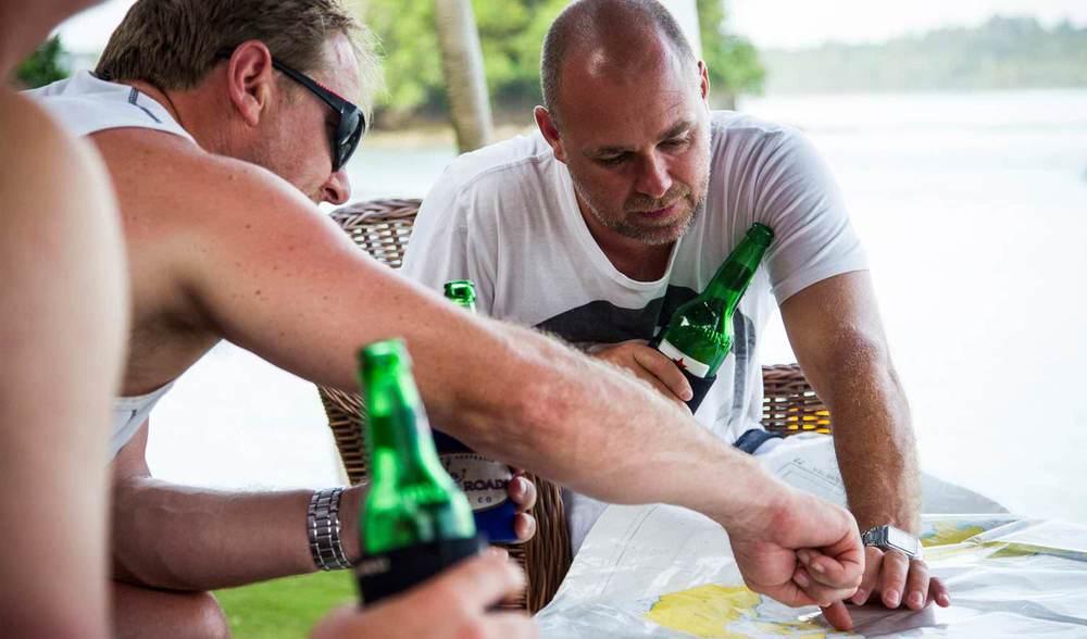 Getting to Pinnacles on Telo Island Indonesia Bintang