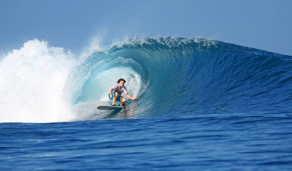 Telo indonesia surf trip barrel wave