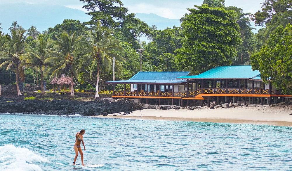 Aganoa lodge samoa learn to surf little left