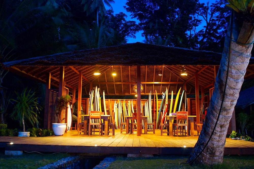 Telo island lodge indonesia surf trip surf boards