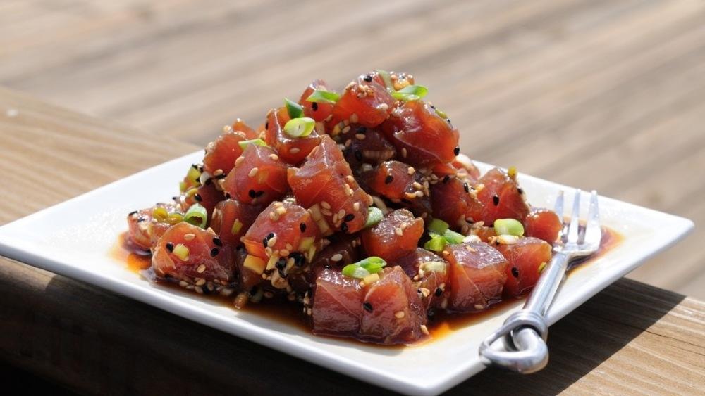 Fanning-Island-Resort  Fresh Tuna Sashimi at Tabuaeran Atoll