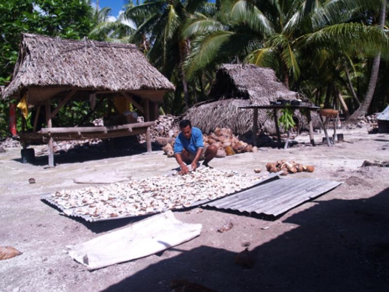 cultural village immersion at Fanning Island Resort
