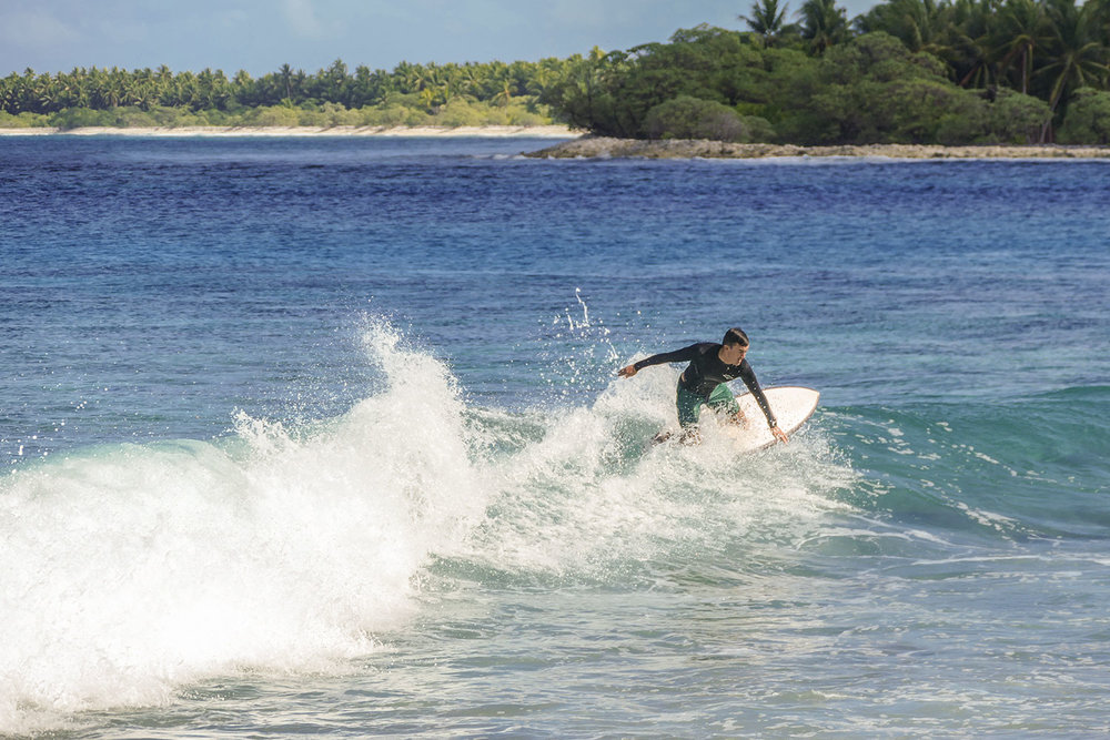 The swell dropped in the morning, but the waves were still fun, Fanning Island, Pegasus Lodges.jpg