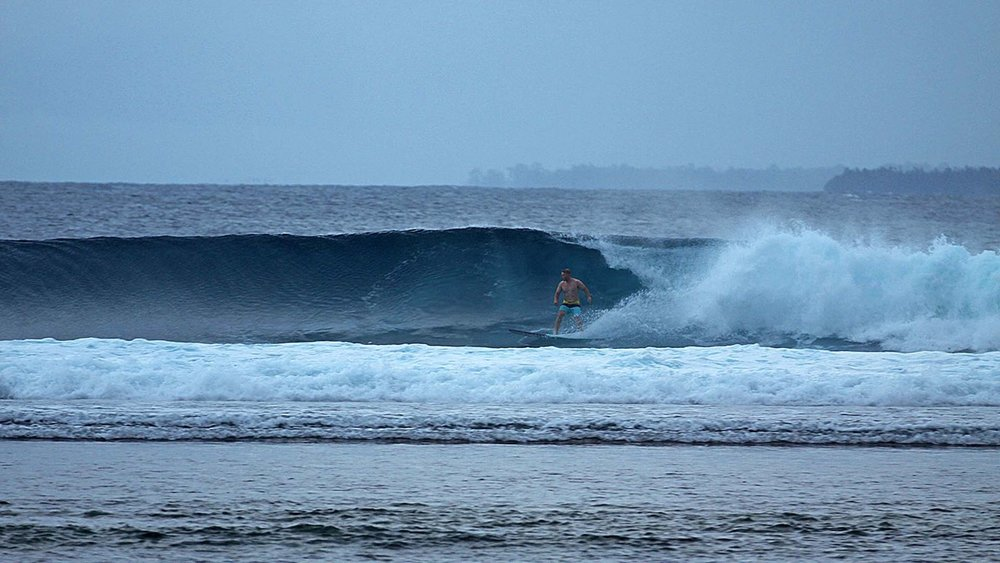 Another session to finish off the day at our home break, Max's Right, at Telo Island Lodge.