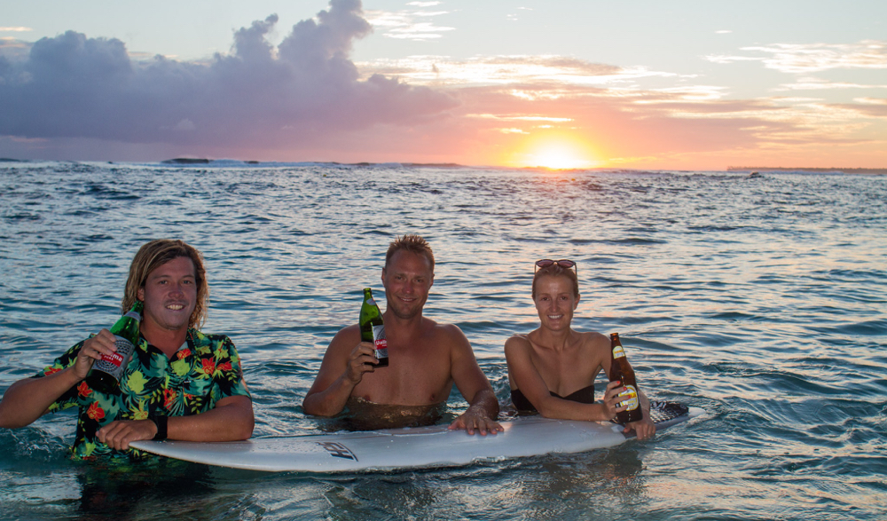 Post-surf sunset beers.