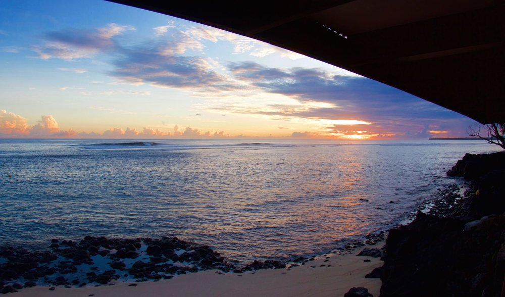 The view from dinner at Aganoa Lodge Samoa, Pegasus Lodges & Resorts.