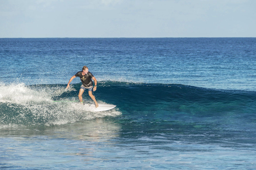 Small but fun morning on the Fanning Left. Fanning Island, Pegasus Lodges.
