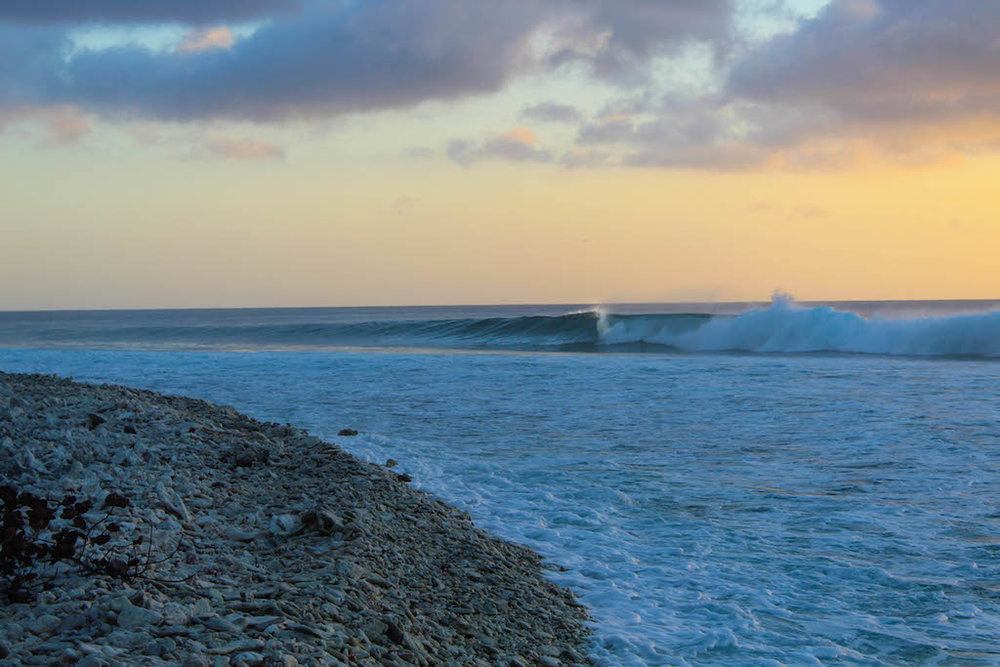 A surfer's empty canvas.
