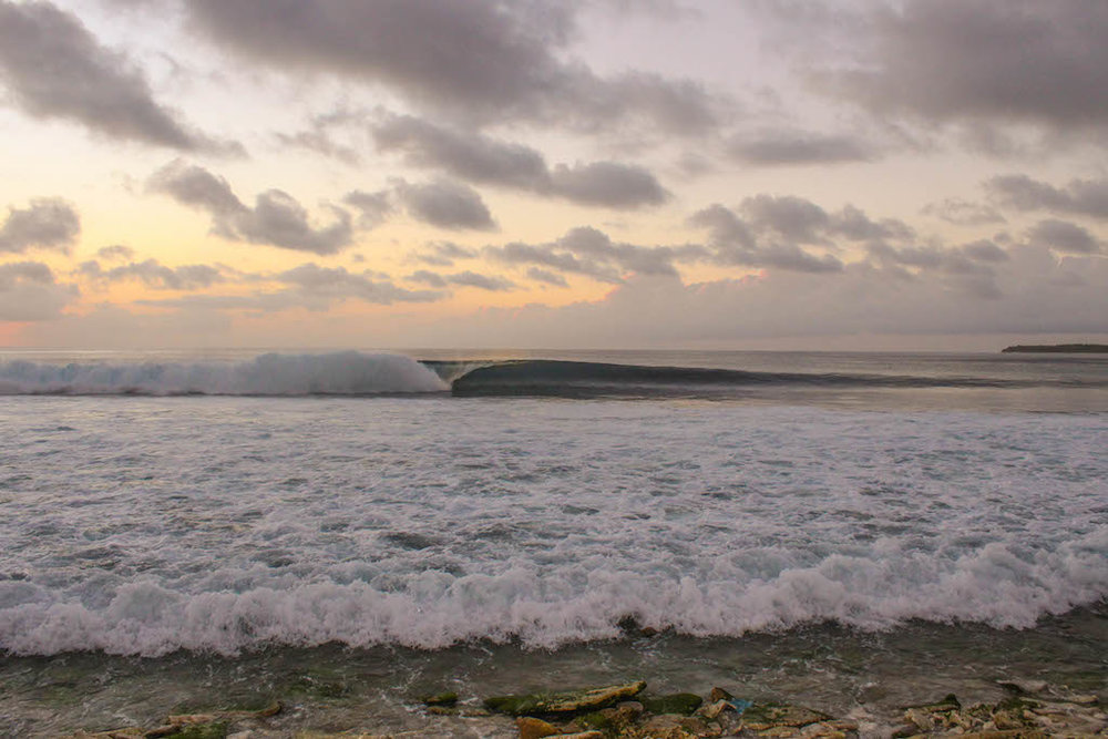 Empty waves, a common sight.