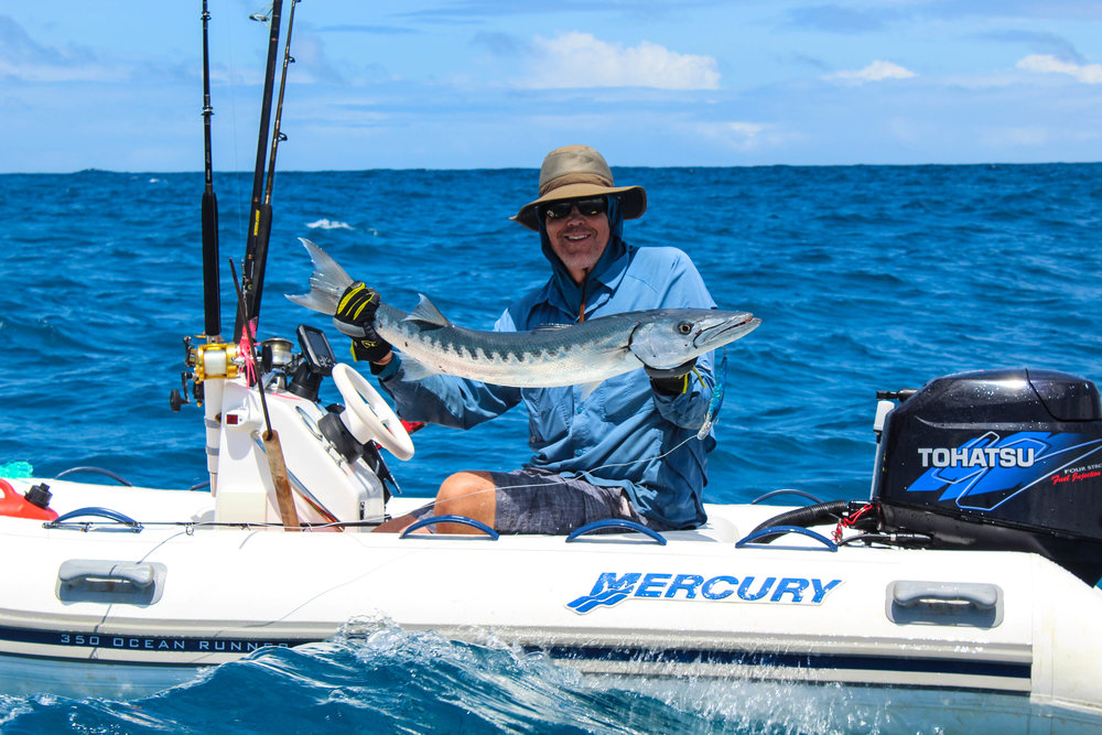 Alexander has been finding the barracuda at a few special areas.