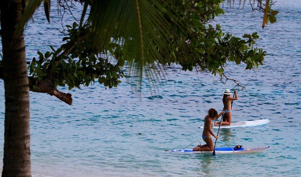 Lazy paddle boarding.