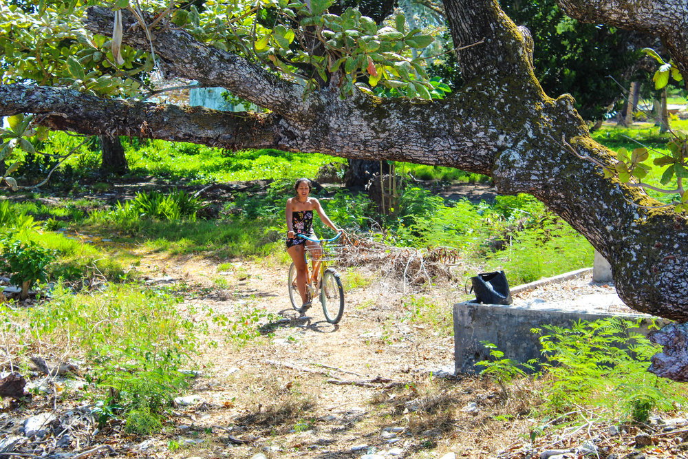 A leisurely bike ride around the island.