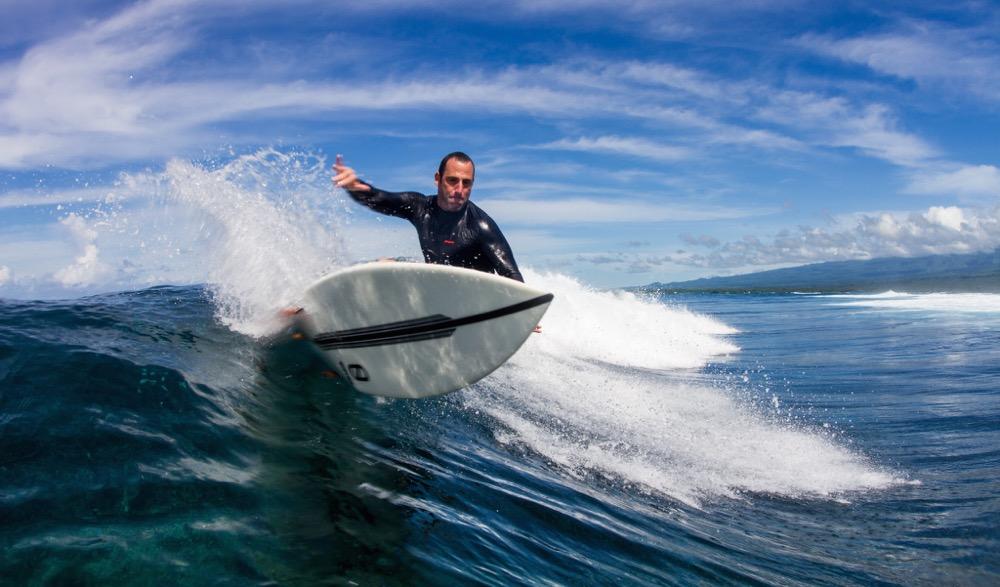 Precision surfing.