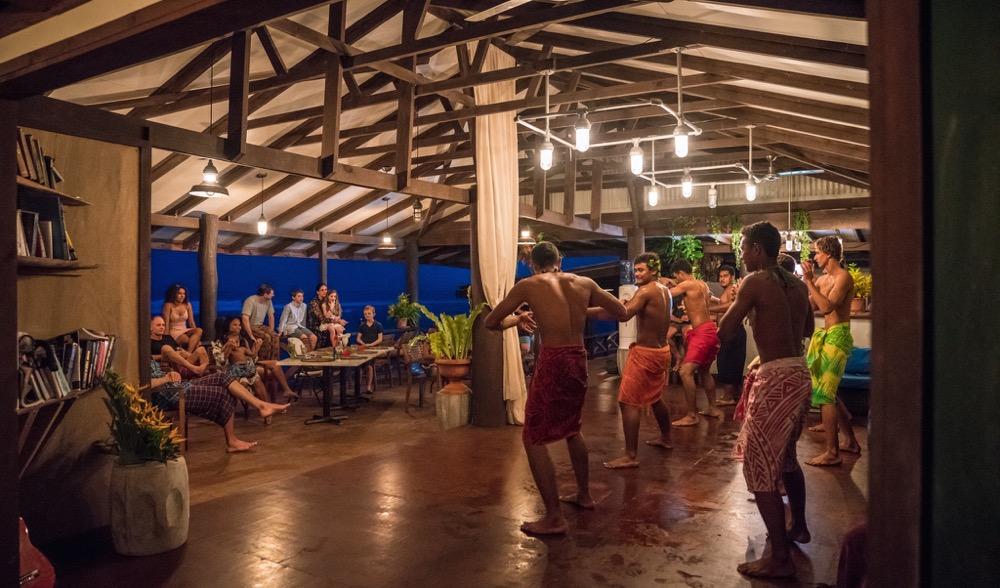 Traditional Fia Fia demonstration.