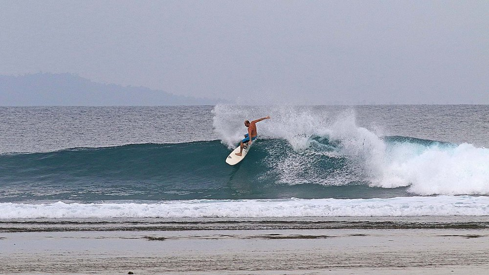 Kerwin slashing the lip out the front of the lodge.