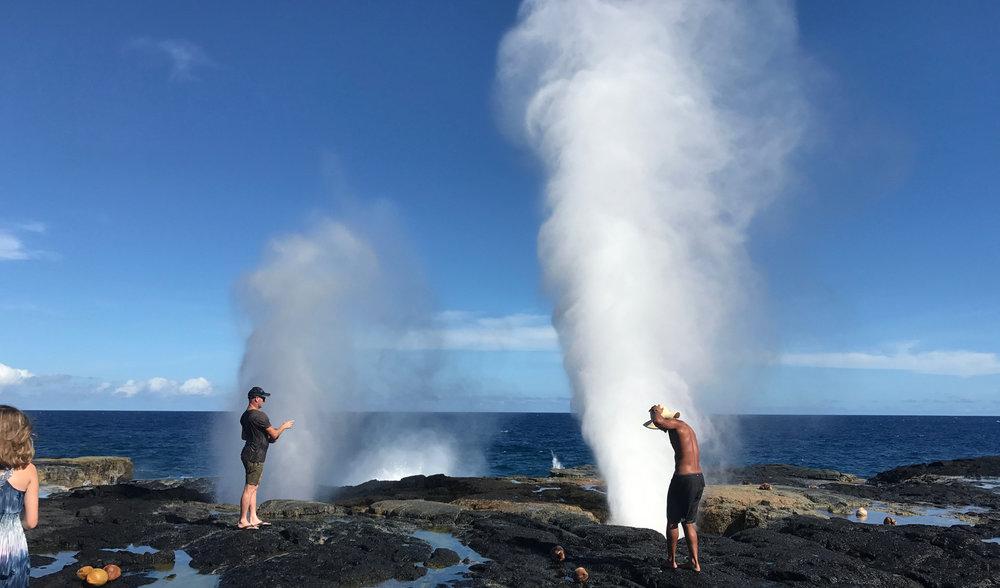 The explosive Taga blowholes.