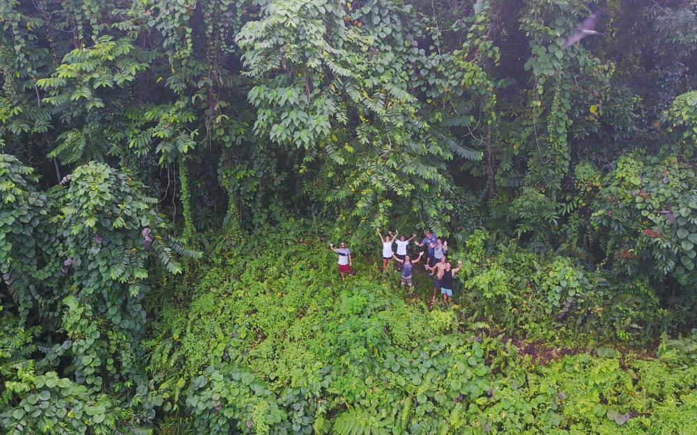 The luscious Samoan jungle.