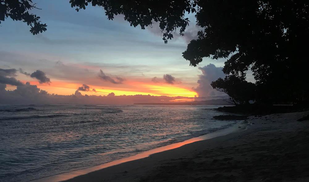 A classic Samoan sunset.