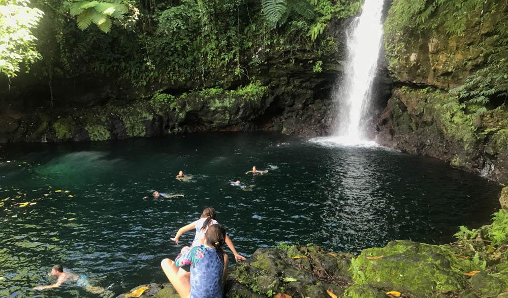 Waterfall adventures.