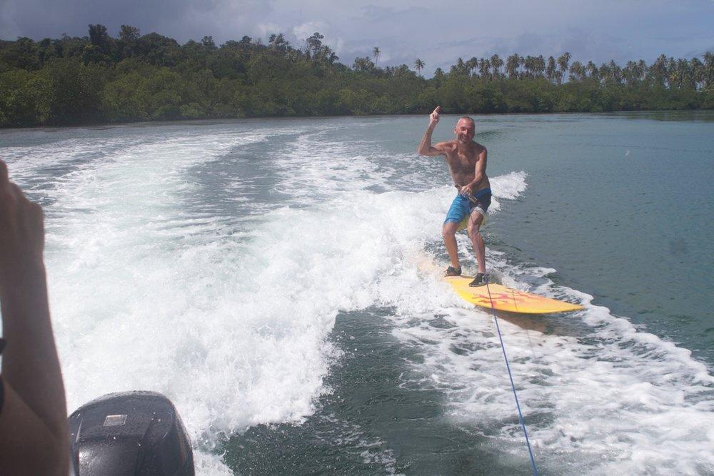 Oonga mangrove surfing.