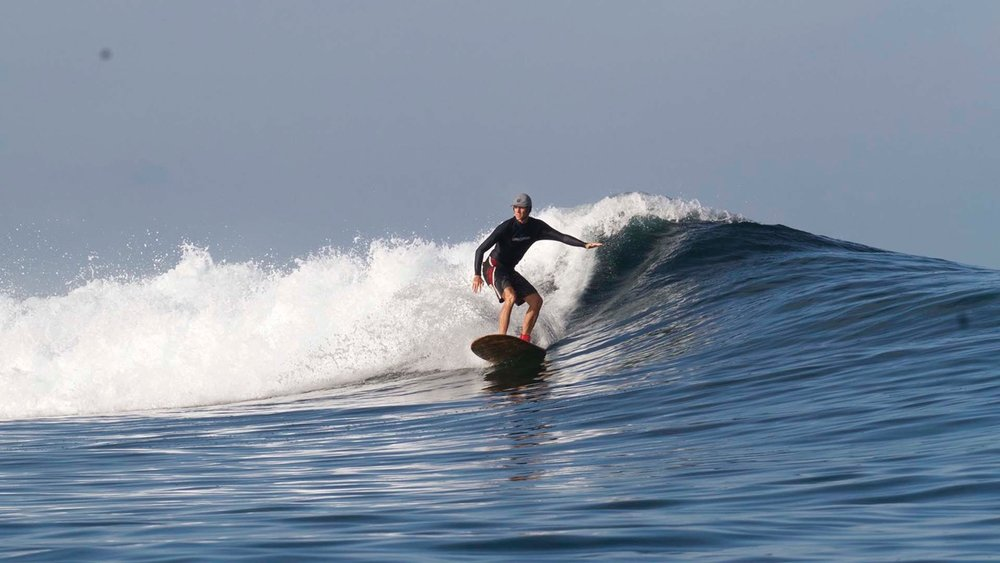 Yannick cruising at his new favourite wave!