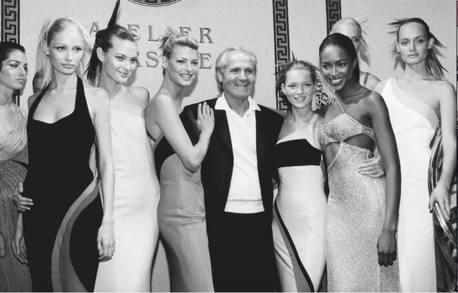 Versace End of season catwalk show, 1996 - 1997.
