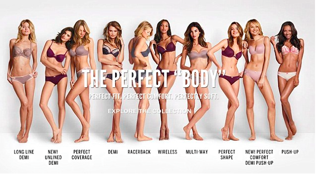 The perfect body campaign by victoria secrets in 2014