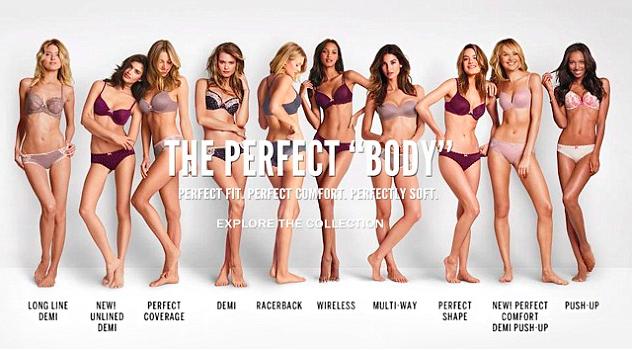 The perfect body campaign by victoria secrets in 2014