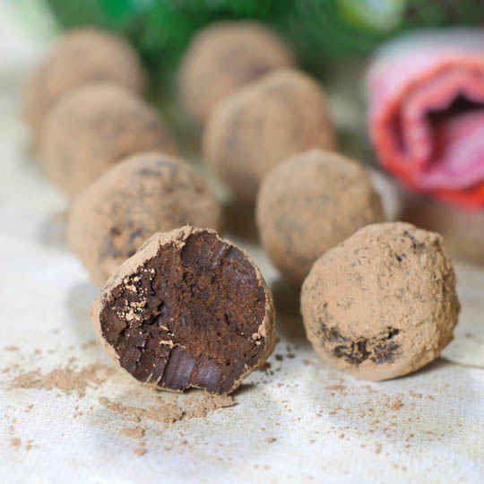 avocado and dark chocolate truffles