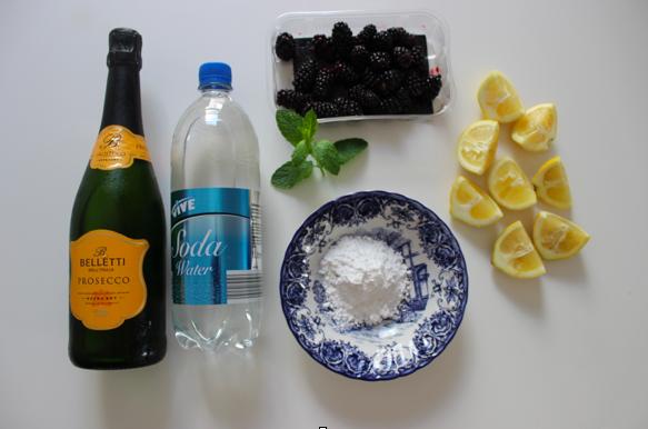 zingy blackberry lemonade