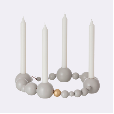 Grey String Ball Candholder, Ferm Living - arriving in August