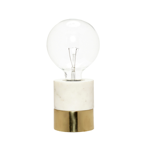 Marble and Gold, Barebulb Lamp by Hubsch Interiors, £90
