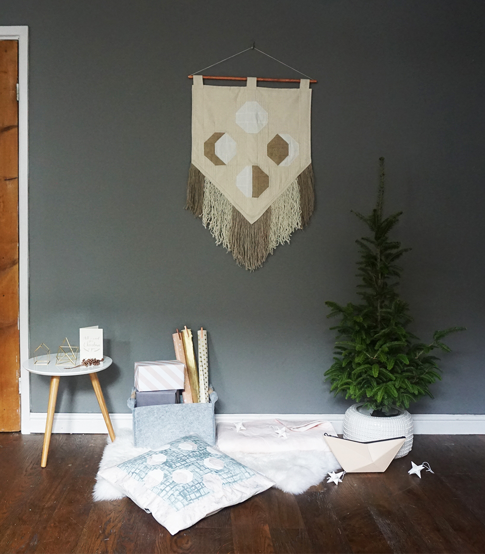 Take on a new tradition this Christmas and swap your Christmas wreath for a handmade, quilted wall hanging by Object Maker, FOAK.