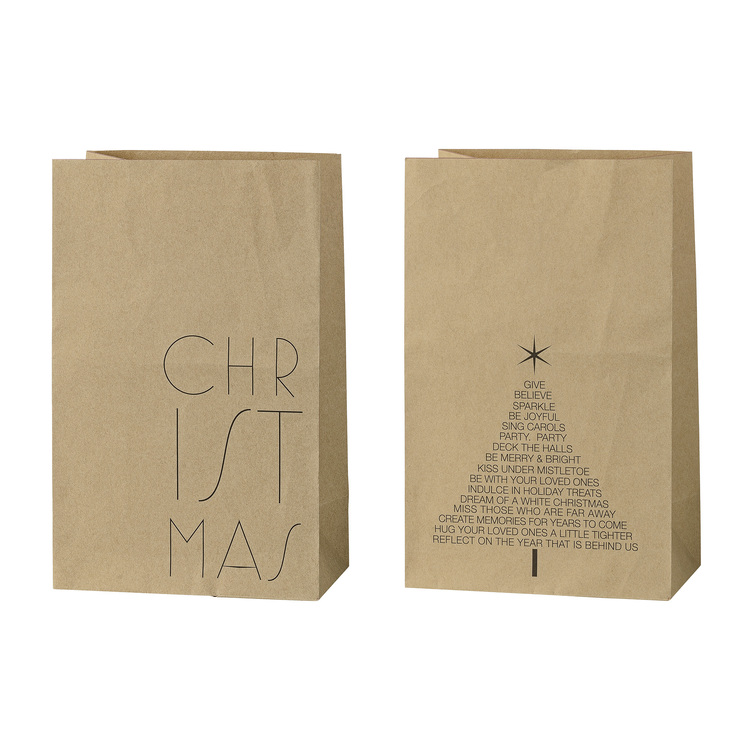 kraft paper gift bags