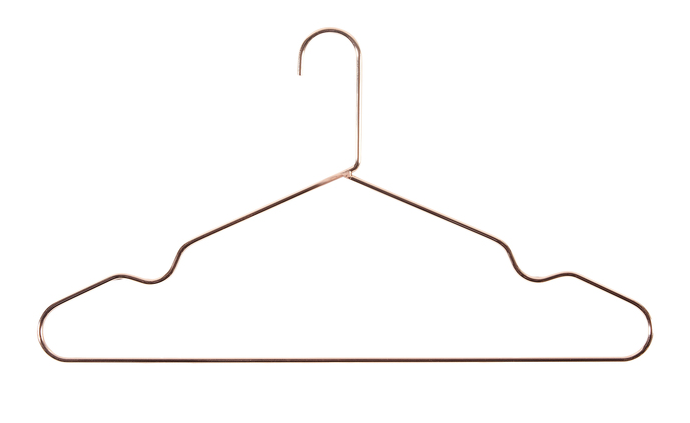copper coat hanger