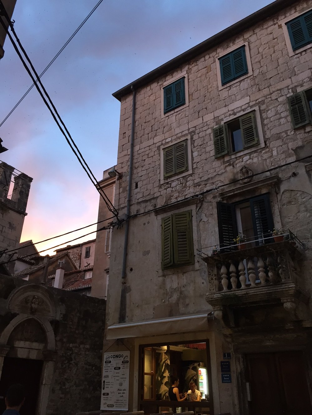 Split Old Town captured just as the sun was setting
