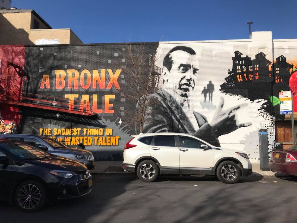 A Bronx Tale mural in Fordham, Little Italy, The Bronx